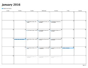 Middle School Battle Calendar
